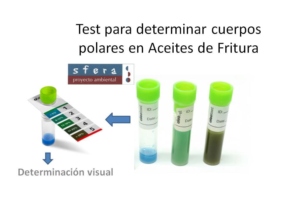 Test para determinar cuerpos polares en Aceites de